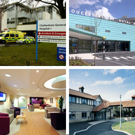 Image of Cheltenham General Hospital, Gloucestershire Royal Hospital, Nuffield Health Hospital, Winfield Hospital